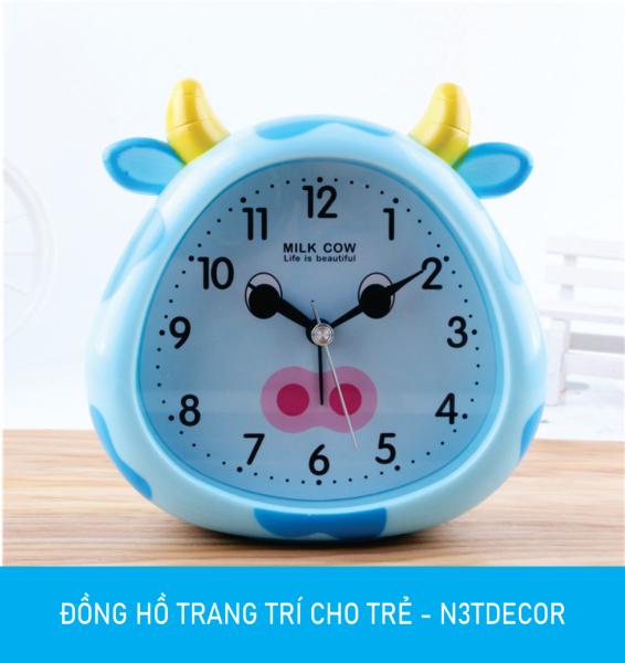 Nơi bán Đồng hồ báo thức để bàn BÒ SỮA đáng yêu