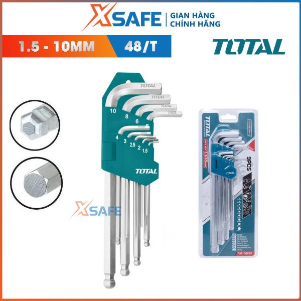 Bộ khóa lục giác bi TOTAL THT106292 Lục giác được tôi luyện từ thép Cr-V chắc chắn,khỏe,chống gãy cong,rỉ sét,thiết kế nhỏ gọn phân phối chính hãng XSAFE