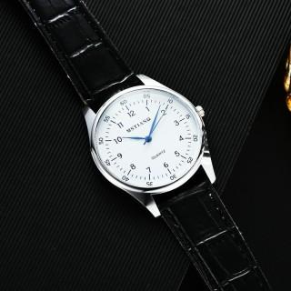 Đồng hồ thời trang nam nữ Mstianq Ms020 dây da, mặt số, kim xanh cực đẹp thumbnail