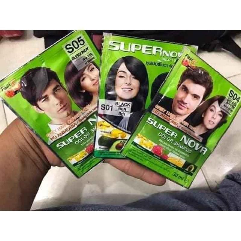 Dầu gội nhuộm tóc thảo dược DCASH SUPER NOVA (Thái Lan) giá rẻ
