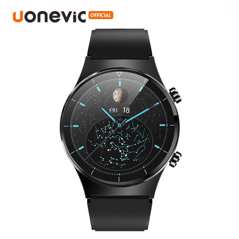 Đồng hồ thông minh Uonevic cho nam nữ đồng hồ thể thao chống nước IP68 màn hình tròn cảm ứng toàn bộ bluetooth - INTL