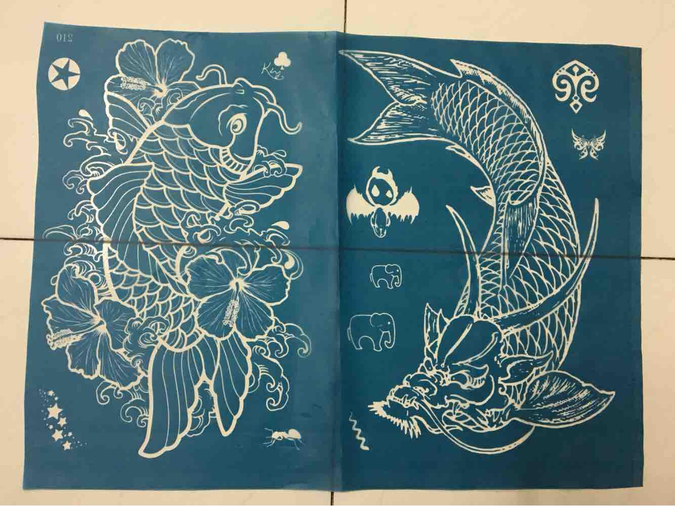 1 Tấm khung xăm henna hoặc Inkbox size to kín lưng Tặng kèm Mực henna và dụng cụ