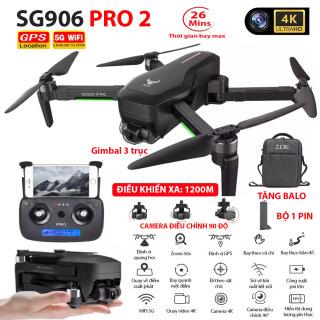 (NEW 2020) BỘ 2 PIN TẶNG KÈM BALO - Máy bay Flycam ZLRC SG906 Pro 2 camera 4k, gimbal chống rung 3 trục, Bay xa 1200m, Thời gian bay max 26 phút, Hai camera kép, GPS Camera Wifi 5G - BẢO HÀNH 6 THÁNG thumbnail