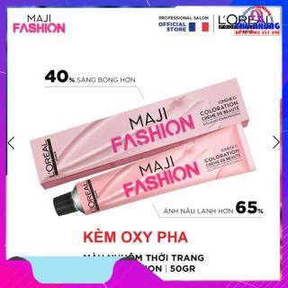 [HCM][LOREAL CHÍNH HÃNG] thuốc nhuộm tóc loreal majirel thời trang 50ML kèm oxy thumbnail