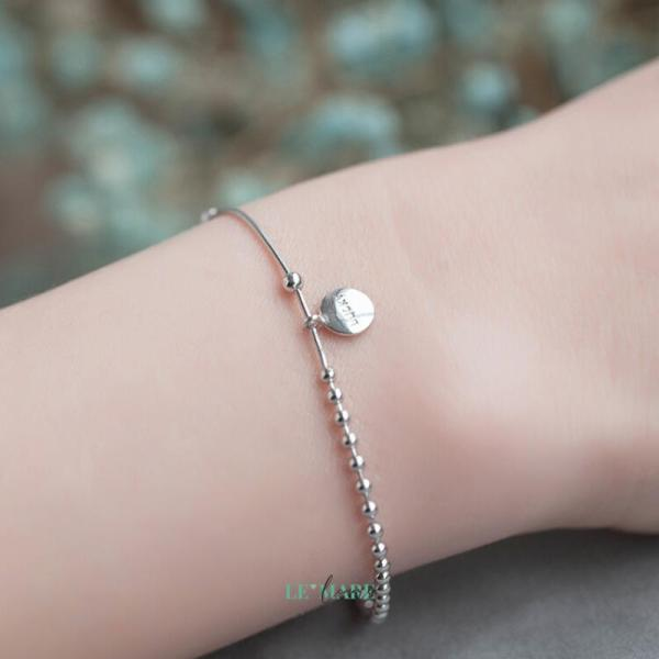 Bộ trang sức bạc tag tròn LUCKY Lemare Jewelry