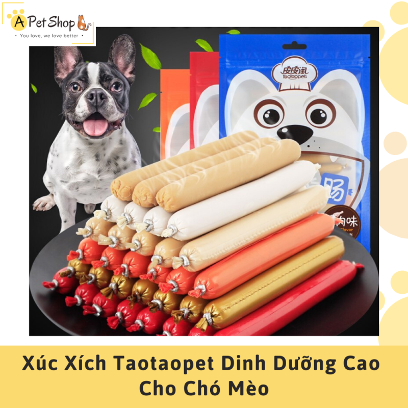 Xúc Xích Ăn Liền Cho Chó, Mèo Dinh Dưỡng Cao Taotaopet (Túi 30 cái) - A Pet Shop