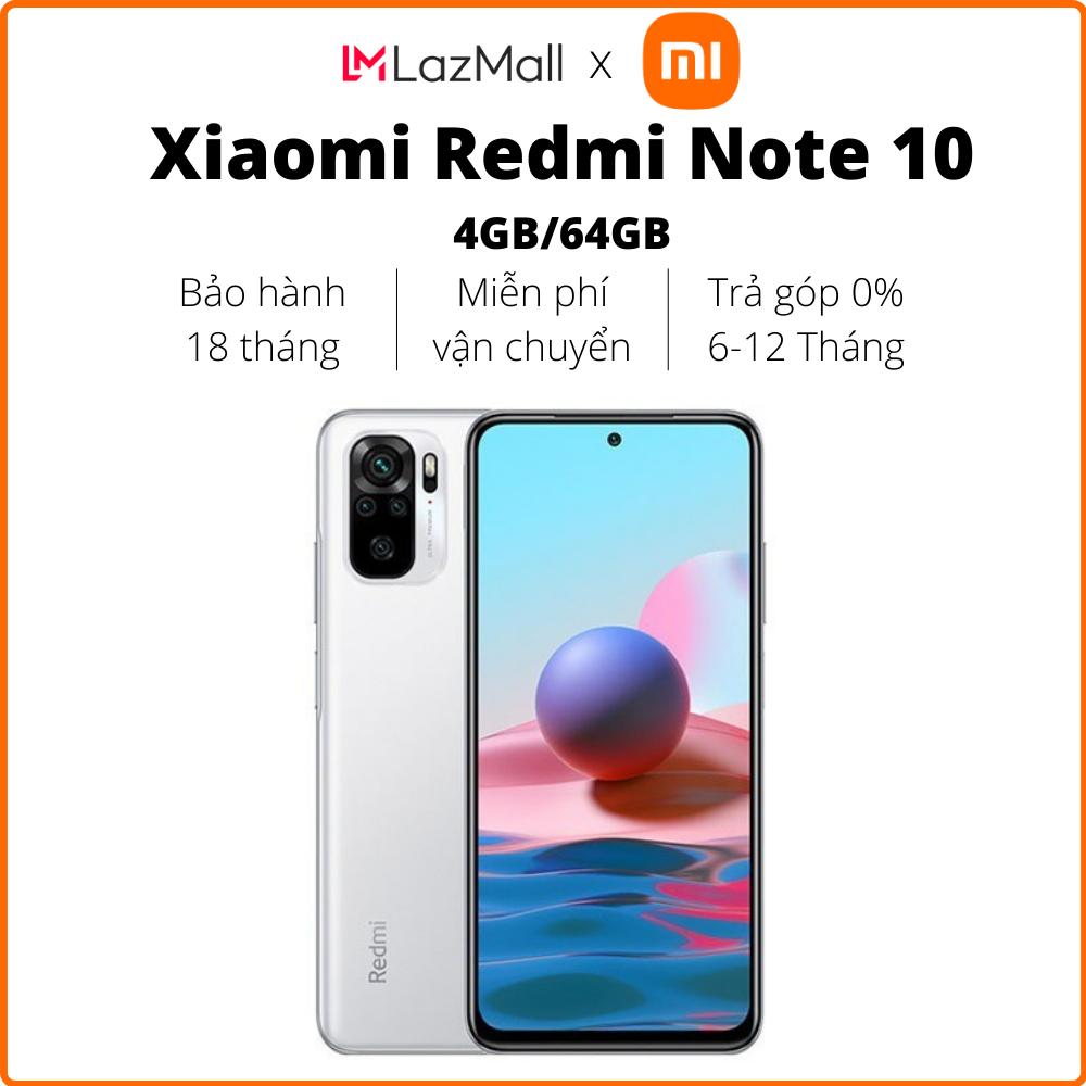 Điện thoại Xiaomi Redmi Note 10 (4GB/64GB) - Hàng chính hãng DGW - Bảo hành 18 tháng - Trả góp 0%