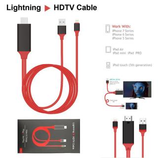 Cáp chuyển tín hiệu Iphone Lightning To HDMI - Siêu xịn - Kết nối sang tivi, TV, máy chiếu HDTV Cable Plug and Play thumbnail
