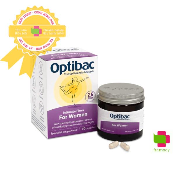 Men vi sinh Optibac tím Optibac Probiotics For Women, UK Anh Quốc (30v/90 viên) giảm vie^m phụ khoa cho phụ nữ và mẹ bầu
