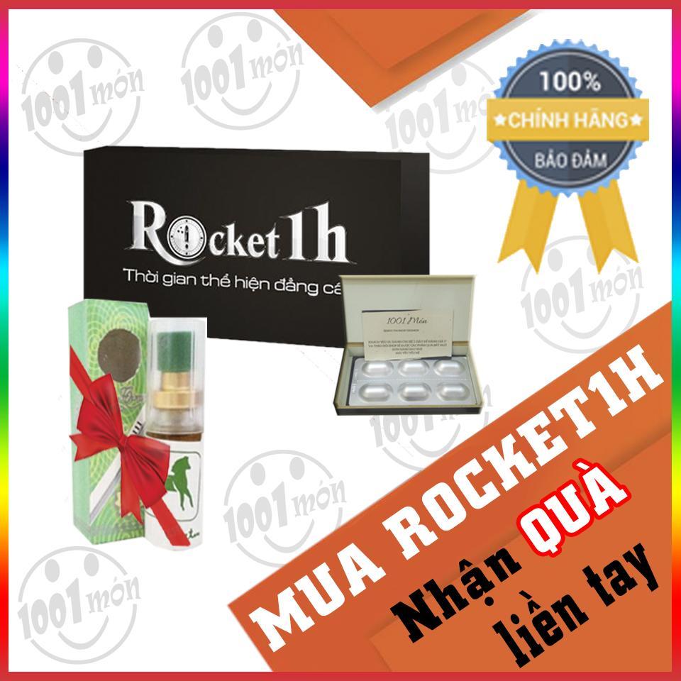 Mua 1 viên rocket 1h hỗ trợ tình dục nam + tặng chai longtimelạnh   - 1001 món