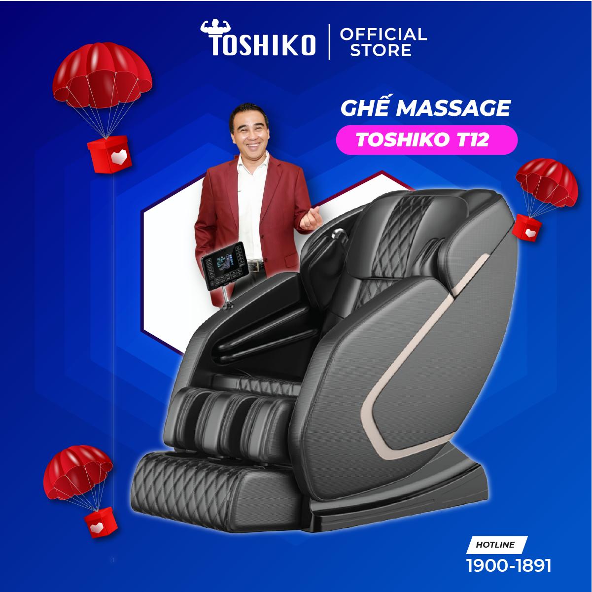 Ghế massage trị liệu toàn thân Toshiko T12 hàng chính hãng, bảo hành 6 năm