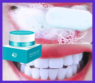 Bột Tẩy Trắng Răng, Kem Đánh Răng nha khoa, làm trắng răng, vệ sinh sạch răng miệng, bàn chải đánh răng, kem đánh răng loại bỏ mảng bám, vết ố, bột ngọc trai làm trắng răng 50g. thumbnail
