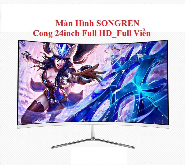 Màn hình Cong 24 inch Full Viền_Led_IPS_Full HD_Mới