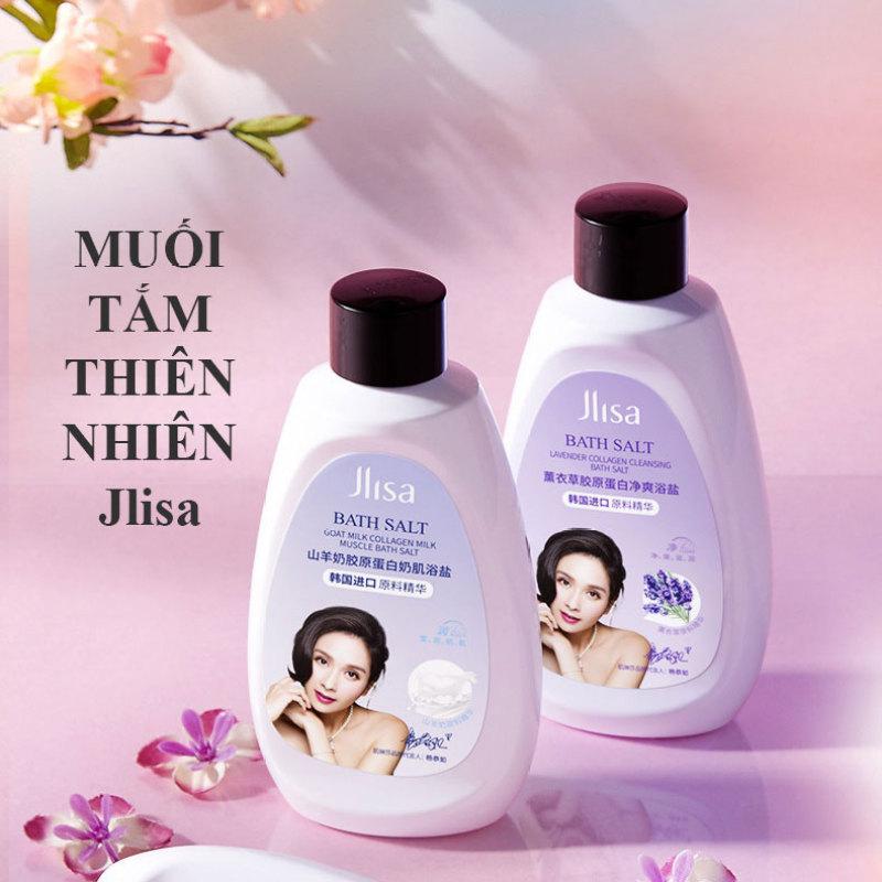 Muối tắm tẩy tế bào chết JLISA Collagen dưỡng ẩm trắng da Lavender Sữa dê nội địa Trung cao cấp giá rẻ
