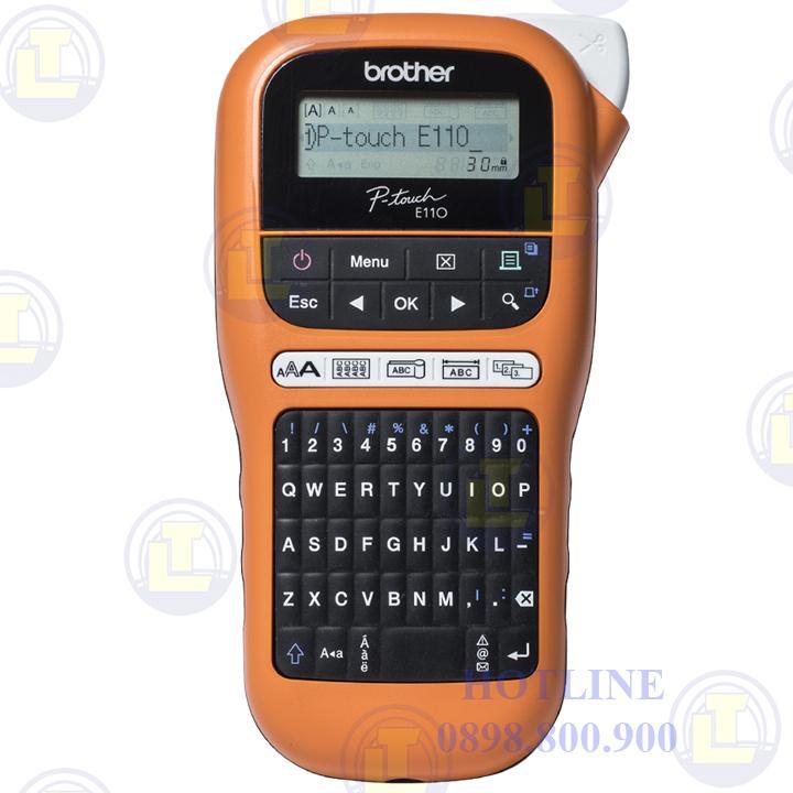 Máy in nhãn mác cầm tay Brother P-Touch PT-E110