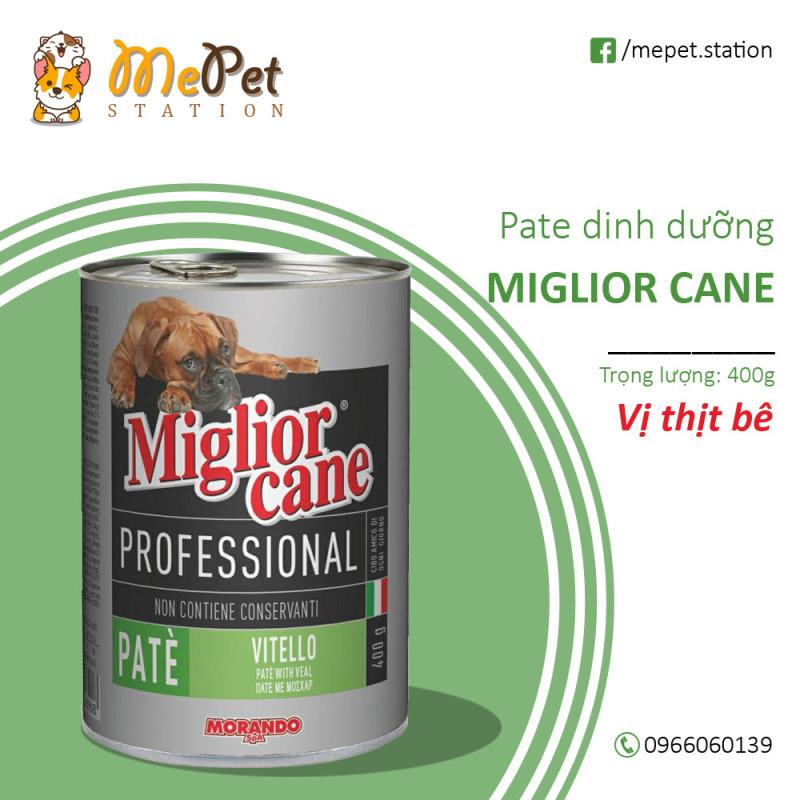 Pate Ý Miglior Cane Cho Chó | Vị thịt bê | Lon 400gr | MIGLIOR CANE