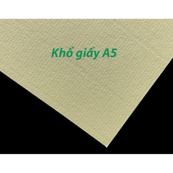 Sỉ 100 tờ giấy canson dày 220gsm vân ngang MÀU VÀNG-Dụng cụ vẽ Tâm Tâm