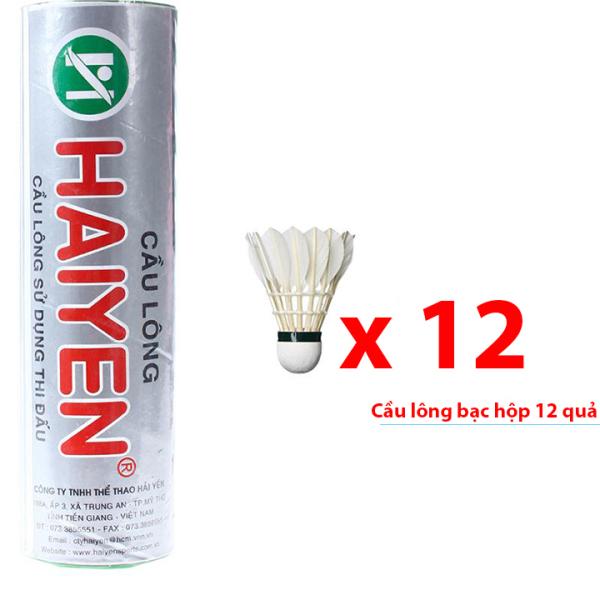 Quả cầu lông Hải Yến hộp bạc 12 quả HB12