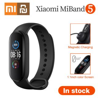 Vòng đeo thông minh Xiaomi Mi Band 5 Theo dõi sức khoẻ, nhịp tim, nhiều chế độ tập luyện, chống nước, màu đen thumbnail