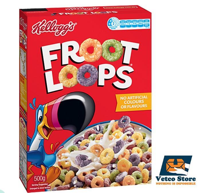 Ngũ Cốc Kellogg's Froot Loops 500g Của Úc Giá Sốc Không Thể Bỏ Qua