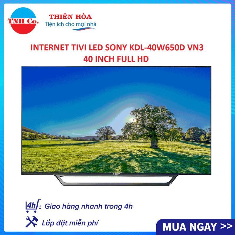 Bảng giá INTERNET TIVI LED SONY KDL-40W650D VN3 40 INCH FULL HD (ĐEN) - BẢO HÀNH 2 NĂM