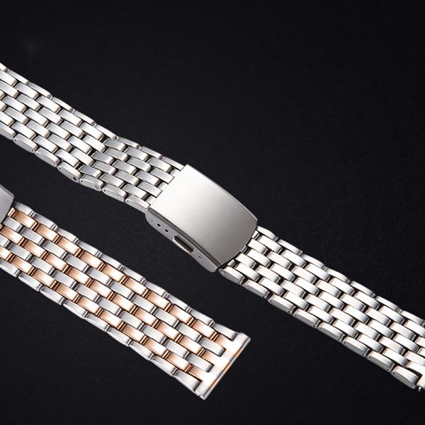 Dây đeo đồng hồ thép không gỉ 7 KHỚP mới G02 size 20/22mm