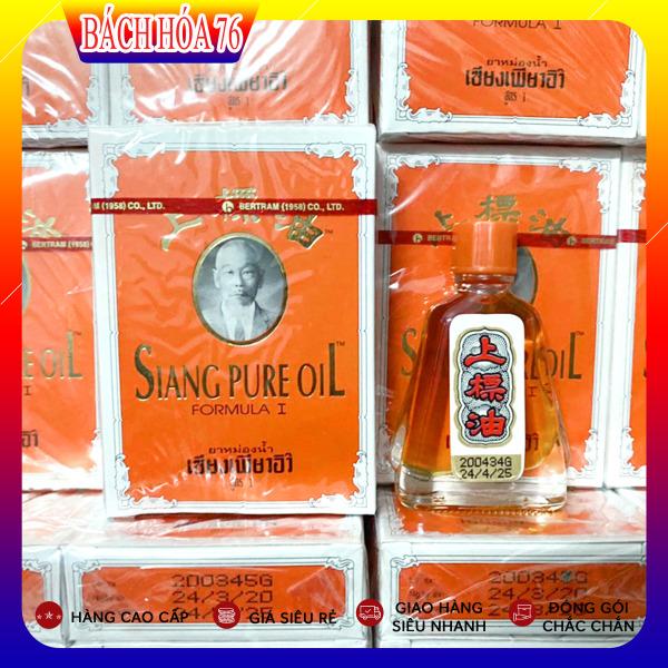 COMBO 6 Dầu Gió Thái Lan Hình Ông Già Siang Pure Oil - Chai 7ml