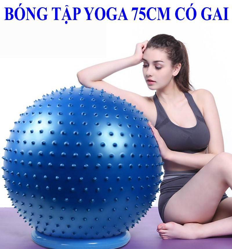 Bảng giá yoga giảm cân,Bóng tập Yoga gai Fitness 75cm được thiết kế với các gai nổi bạn có thể vừa tập vừa massage nhẹ nhàng giảm bớt căng thẳng,bóng rất dễ sử dụng và nhỏ gọn nên bạn có thể dùng tập ở bất cứ nơi đâu, giá ư