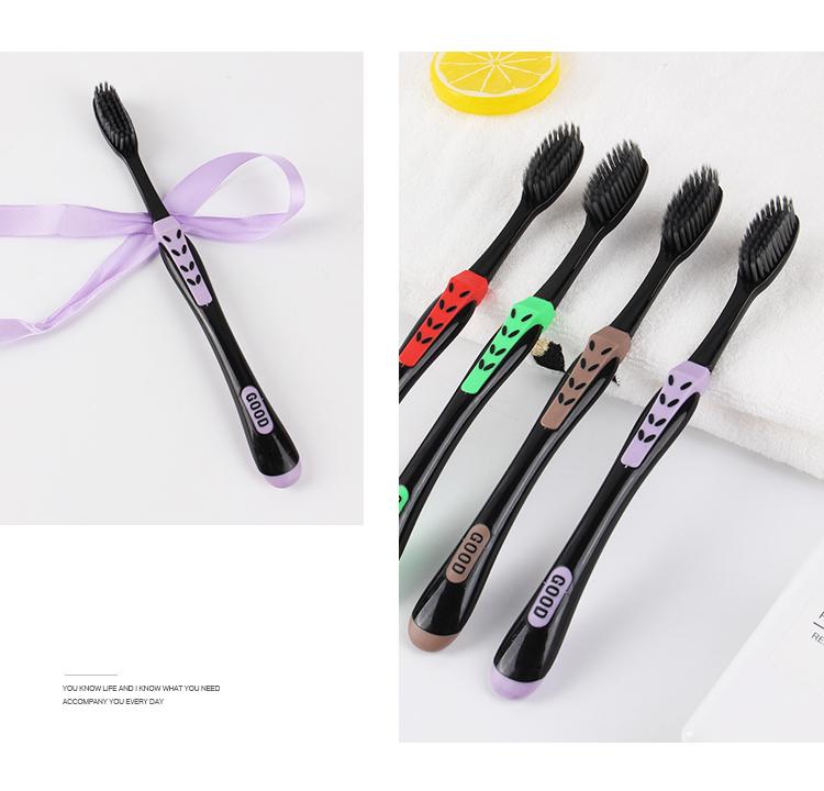 Set 4 bàn chải đánh răng than hoạt tính , bàn chải kẽ răng ,bàn chải răng miệng than hoạt tính Hàn Quốc cao cấp