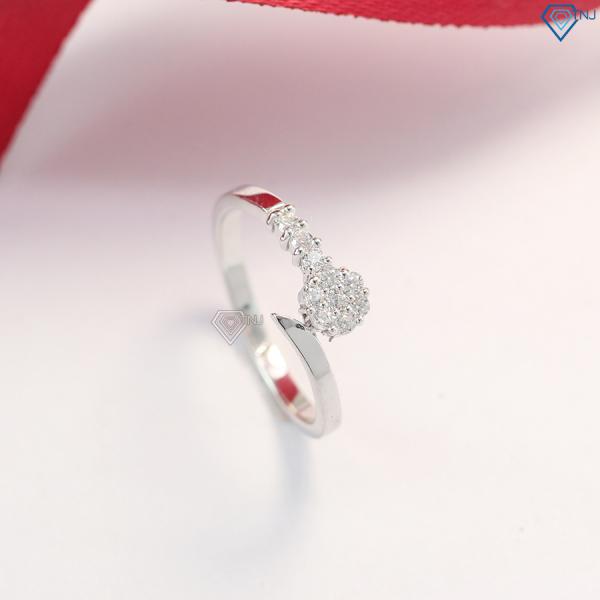 Nhẫn nữ bạc đính đá đơn giản NN0225 - Trang Sức TNJ