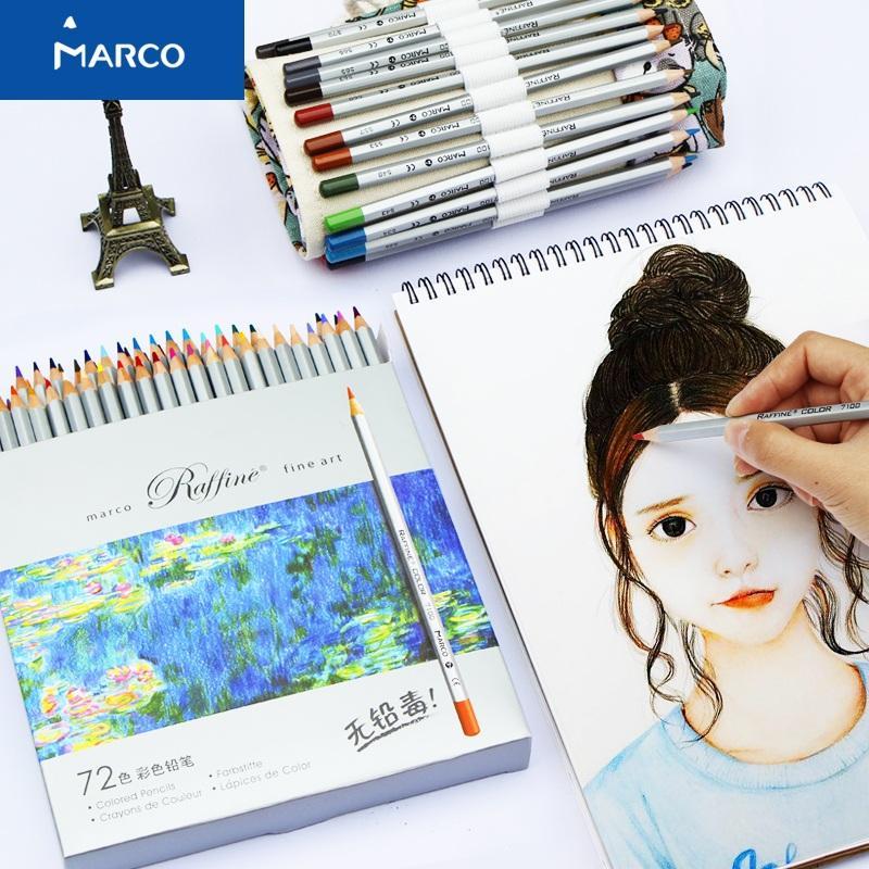 Mua Bộ bút chì mầu khô Marco Raffine 24 mầu hộp giấy
