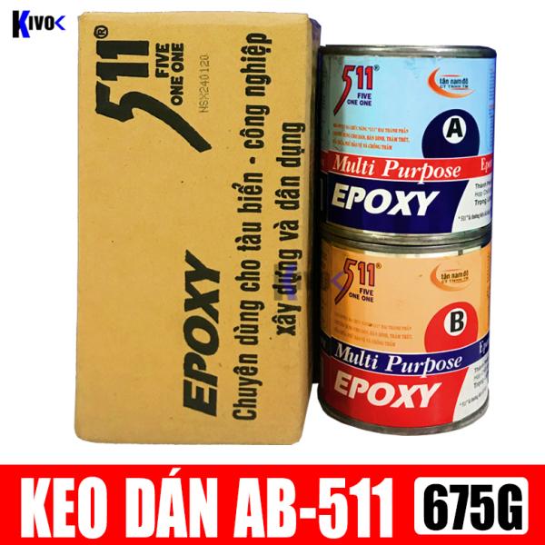 Keo AB Epoxy 511 2 Thành Phần 675G Đa Năng - Keo AB Công Nghiệp - Keo AB Chống Thấm Chịu Lực Chống Ăn Mòn - Keo Dán Đa Năng Siêu Dính