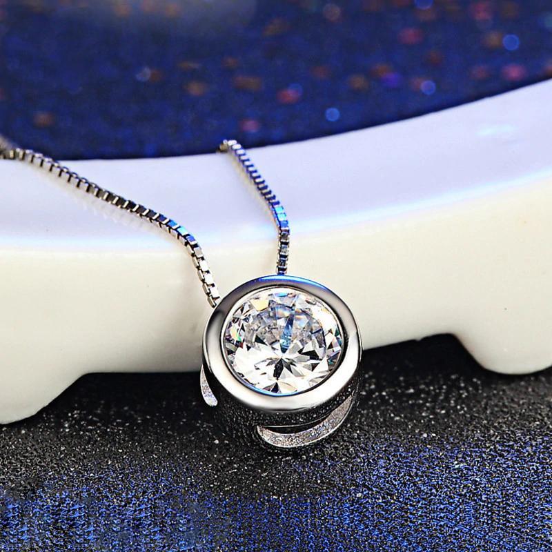 Dây chuyền nữ bạc Ý ánh sao đêm đính đá Zircon lấp lánh sang trọng S925 MDL-DC99