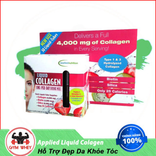 Nước Uống Đẹp Da Applied Nutrition Liquid Colagen Skin 30 Tuýp 300ml Strawberry Authentic thumbnail