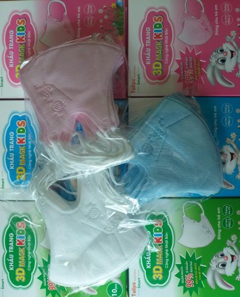 Khẩu Trang 3D Cho Bé Mask Kids Hộp 10 Chiếc
