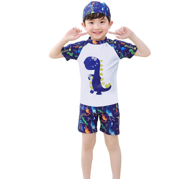 Giá bán Bộ Đồ Bơi SunnyLady Cho Bé Trai, Bộ 3 Chiếc Áo Tắm Liền Quần, Áo Ngắn Tay, Mũ Hoạt Hình, Lướt Sóng, Dành Cho Bé Từ 3-13 Tuổi