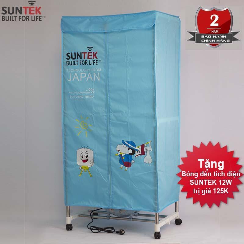 Tủ sấy quần áo SUNTEK 808F + Tặng bóng đèn tích điện SUNTEK 12W