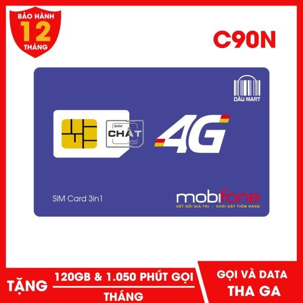 SIM 4G Mobifone C90N Tặng 120GB/Tháng Miễn Phí Gọi 1050 phút mỗi tháng chirt với 90.000đ - Dâu Mart