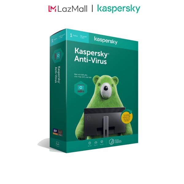 Bảng giá BOX Phần mềm diệt virus Kaspersky AntiVirus 1 Thiết bị/Năm (BOX) - Hàng chính hàng Phong Vũ
