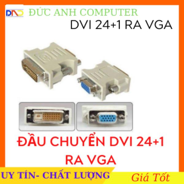 Bảng giá Đầu chuyển DVI ra VGA ( DVI 24+1 sang VGA).(chuyển tín hiệu từ VGA card màn hình ra LCD) Phong Vũ