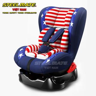 [CHÍNH HÃNG] Ghế ngồi ô tô an toàn STEELMATE chính hãng cho bé - Nằm xoay đa hướng tiện lợi, cho bé thoải mái mọi tư thế - Chất liệu cao cấp thoáng khí mềm nâng niu bé yêu - Góc mở gập lớn 165 độ cho bé nằm ngồi ngủ tự do - CAR25 thumbnail