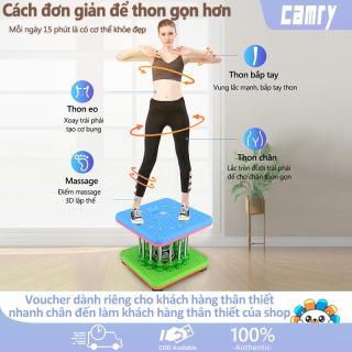 Máy vặn eo lắc hông loại 9 cột nam châm màu xanh lam dụng cụ thể thao tại nhà cho cả nam và nữ camry thumbnail
