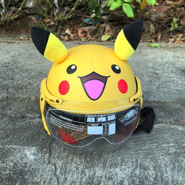 Giá bán Nón bảo hiểm trẻ em Pikachu có kính bảo vệ an toàn cực dễ thương