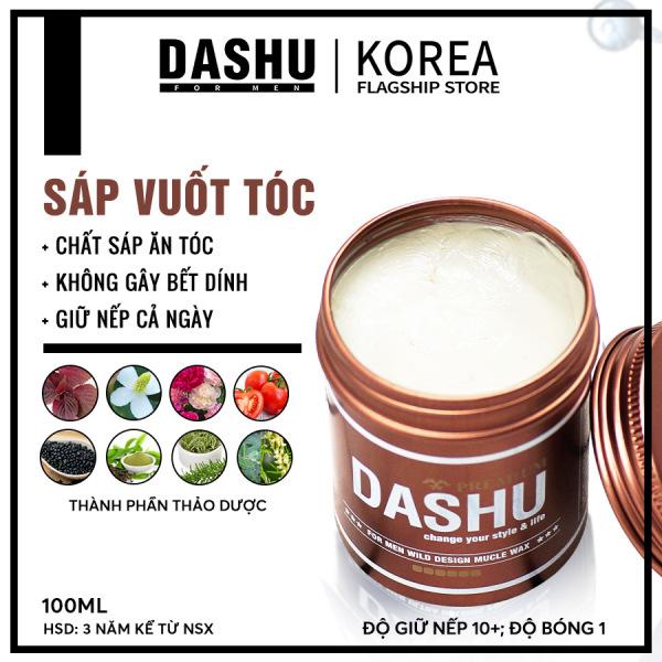 Sáp vuốt tóc nam Dashu for Men Wild Design Muscle Wax 100ml độ cứng 6-7, độ bóng 1, tóc vào nếp tự nhiên, phù hợp với tóc dài, tóc mềm, tóc uốn xoăn, uốn sóng, thuộc dòng uniex dùng cho cả nam và nữ làm tăng độ phồng, độ dày cho tóc. giá r�