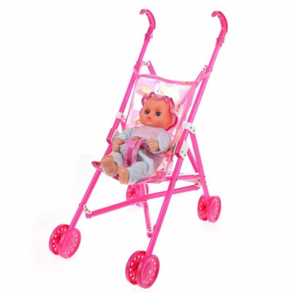 Dolls Buggy Stroller Pushchair Pram Foldable Toy Doll Pram Baby Doll Singapore