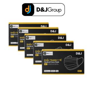 [Khẩu Trang D&J] - COMBO 5 Hàng Mới Của Công Ty D&J GROUP, Kháng Khuẫn 99%, Khẩu Trang Y Tế 4 Lớp, D&J MASK (50 Cái Hộp) thumbnail