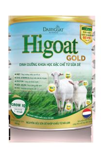 Sữa dê HIGOAT GOLD GROW IQ 800g 1-10 tuổi thumbnail