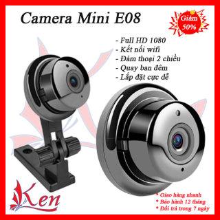 Camera mini E08 - Camera mini siêu nhỏ wifi - Camera wifi - Camera siêu nhỏ - Camera an ninh - Camera chống trộm - Camera Wifi E08 FULL HD 1080P Xem Từ Xa Qua Điện Thoại 3g,4g,5g giá rẻ chất hơn camera Yoosee - Camera Giám Sát Wifi V380 thumbnail