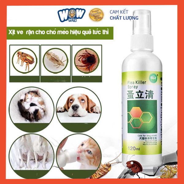 Xịt chữa ve rận Flea Killer Spay chó mèo hiệu quả. [W001] wowpets  khử mùi hôi, ve rận, bọ chét