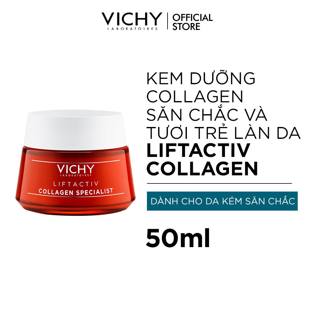 Kem dưỡng ngăn ngừa dấu hiệu lão hóa và làm săn chắc da Vichy Liftactiv Collagen Specialist 50ml